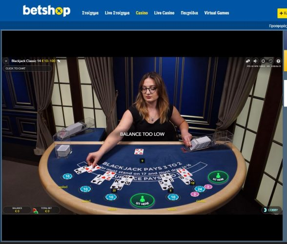 betshop live casino blackjack