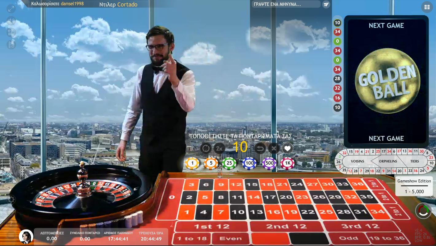 goalbet live casino golden ball roulette