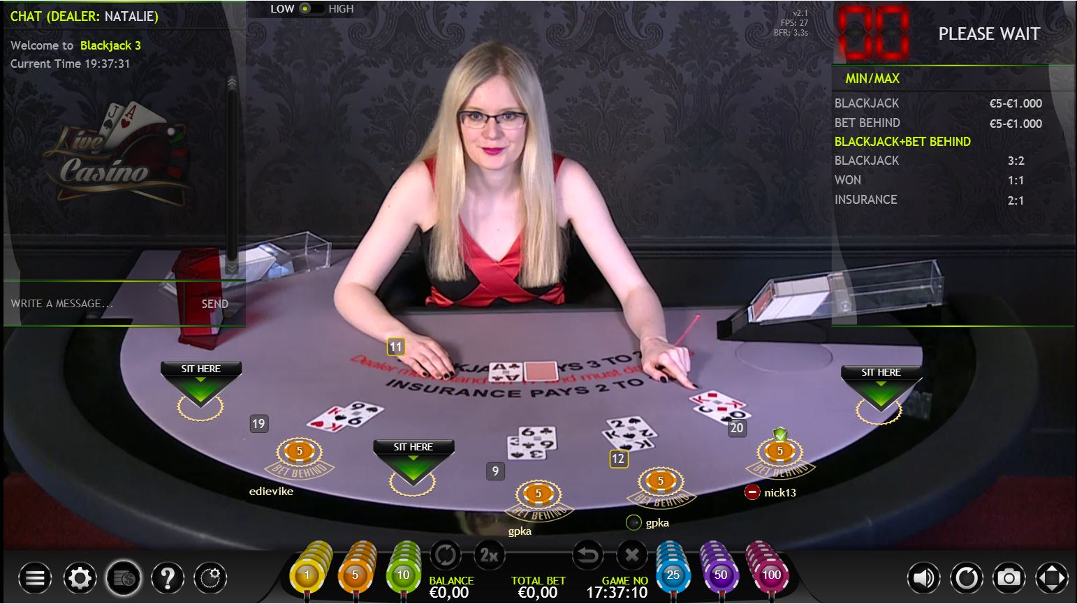magicbet live casino blackjack