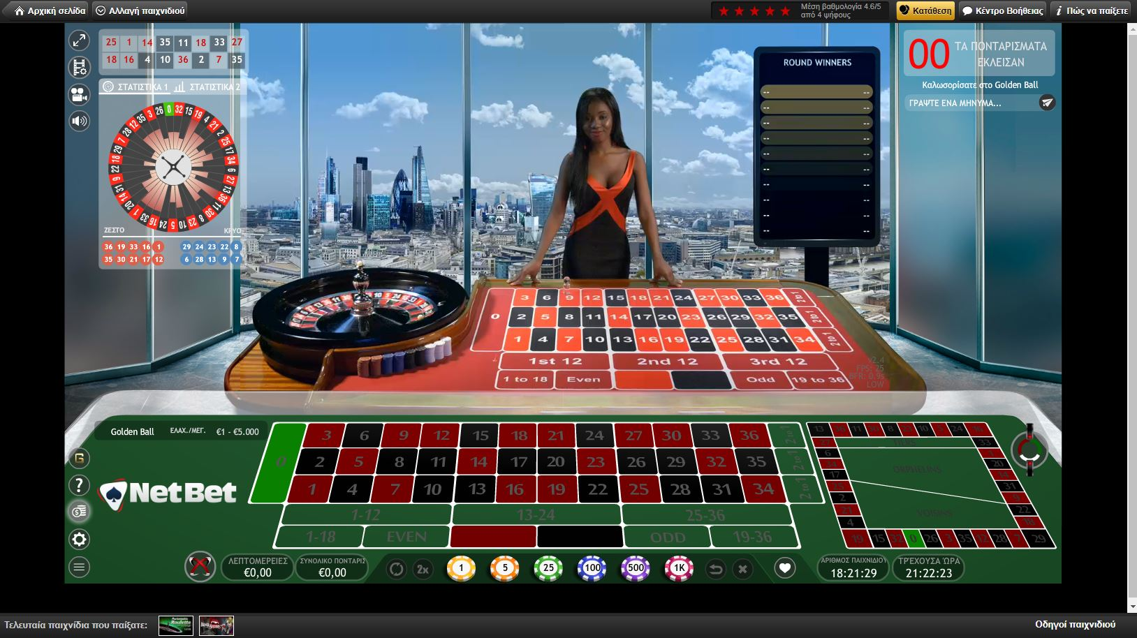 netbet live casino extreme golden ball roulette