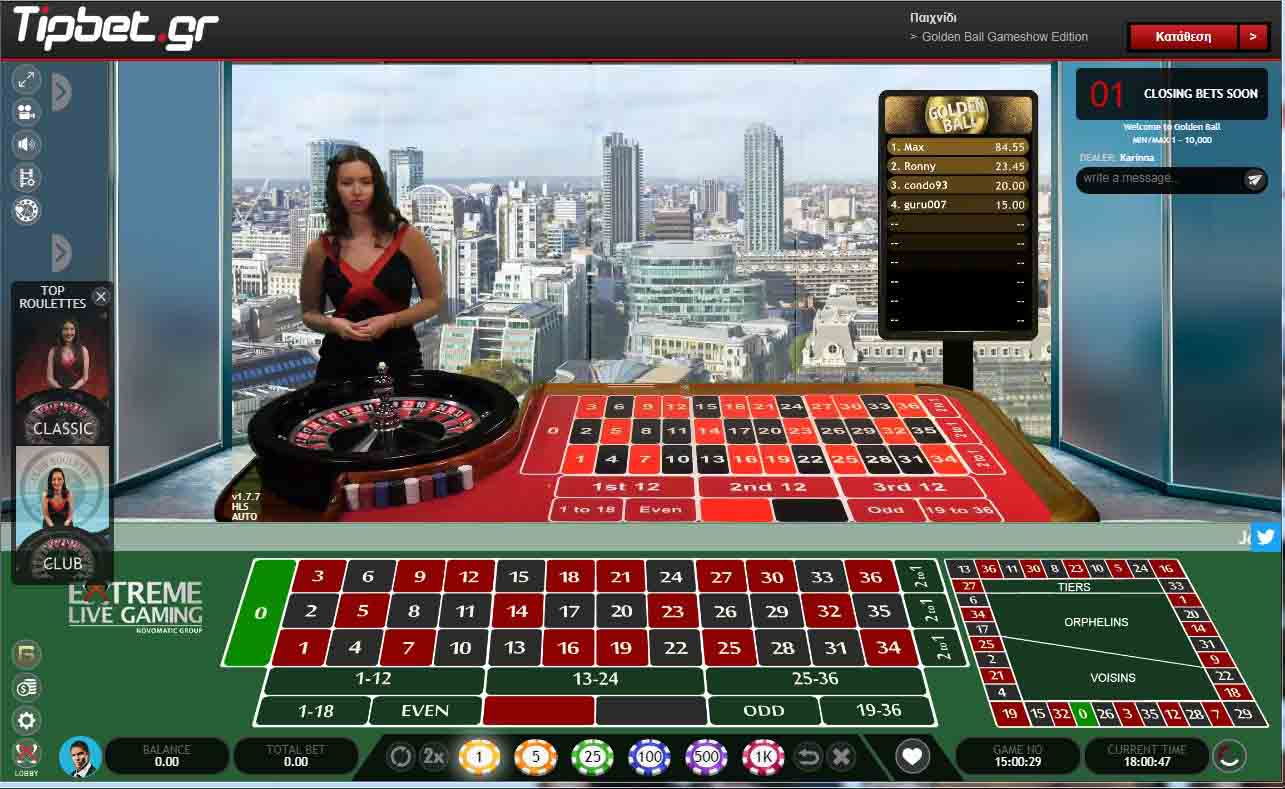tipbet live casino extreme live gaming golden ball roulette